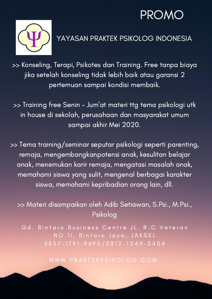 Promo Yayasan Praktek Psikolog Indonesia